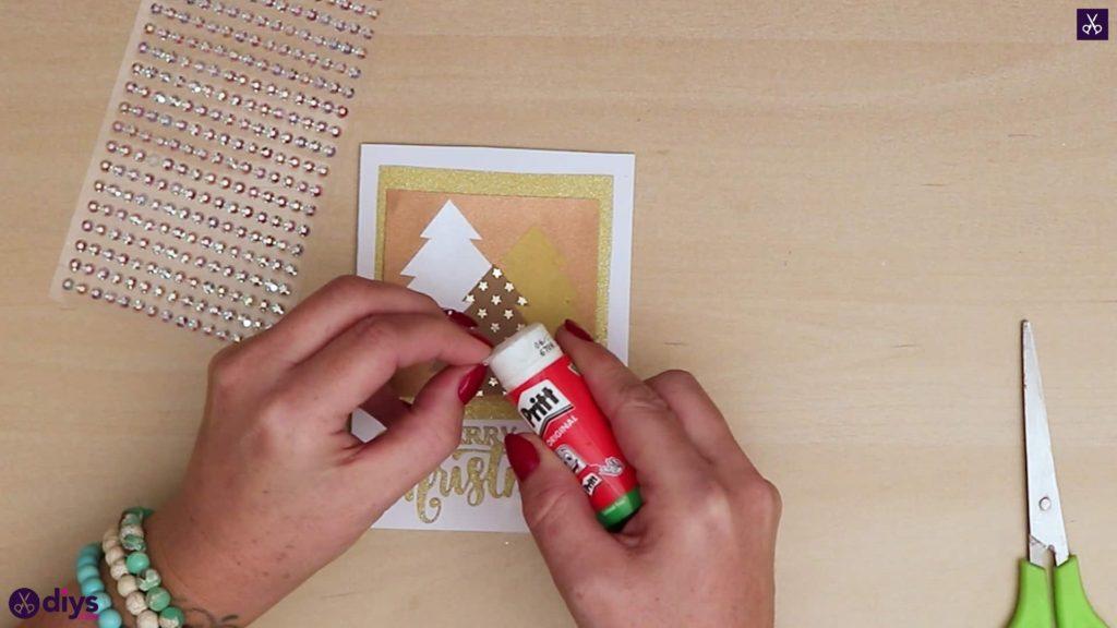 Cristaux de cartes de sapin de Noël