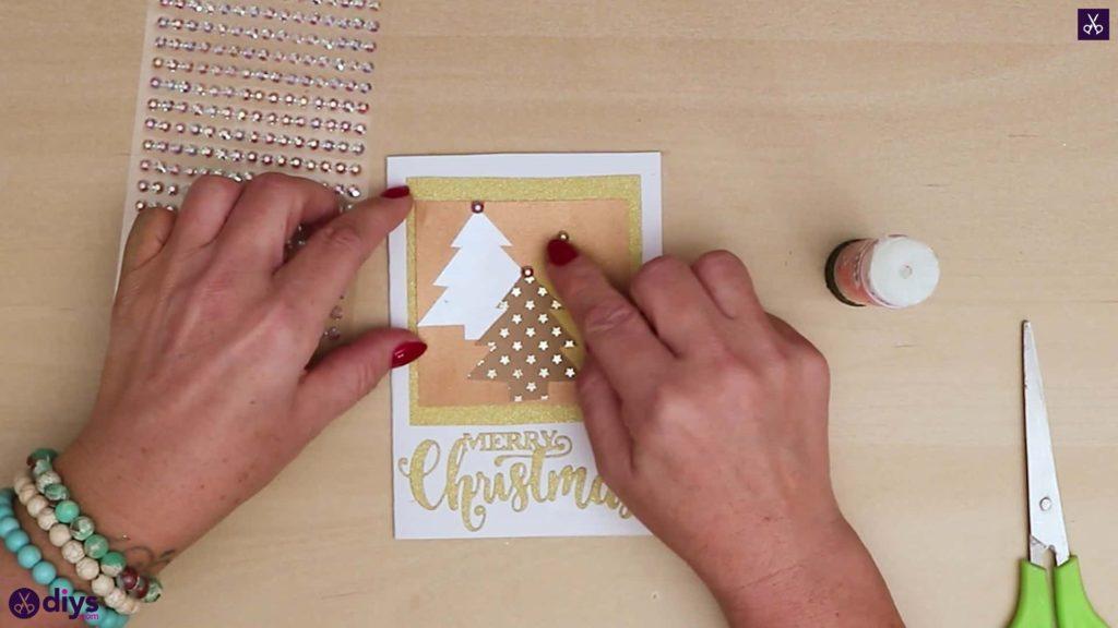 Carte de sapin de Noël bricolage pour les vacances