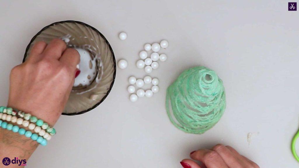 String art perles de sapin de Noël