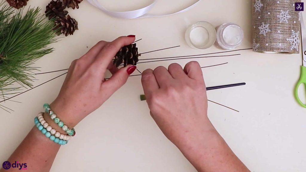 Knoit décoration de table sapin de noel