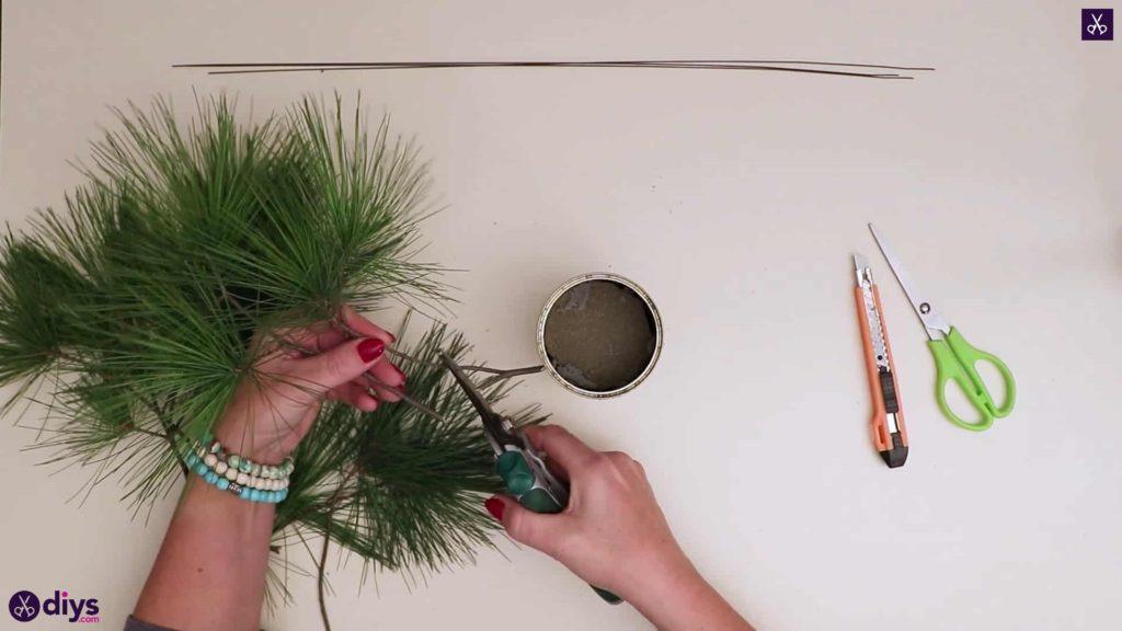Décoration de table sapin de noel étape 4