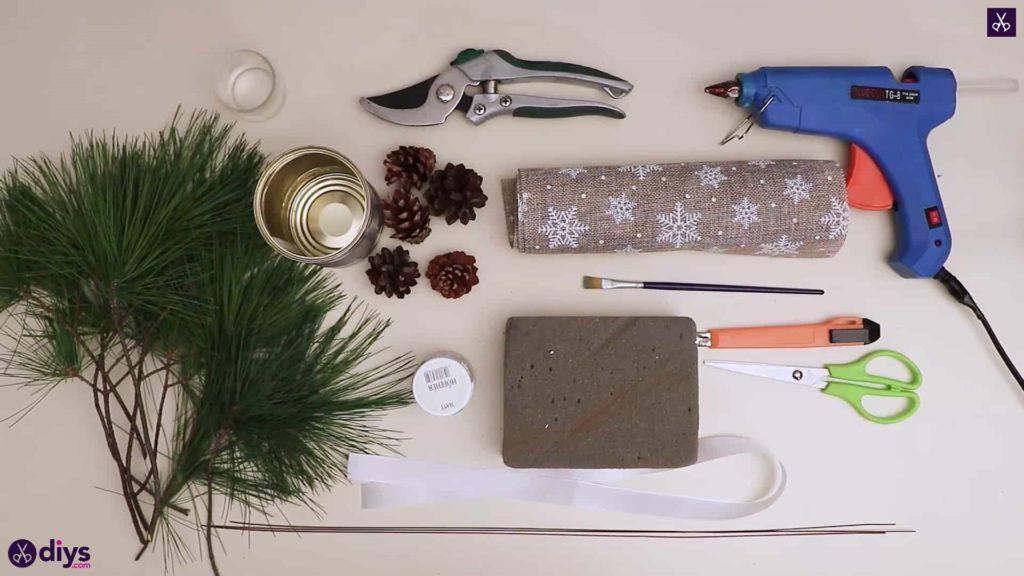 Matériaux de décoration de table de sapin de Noël
