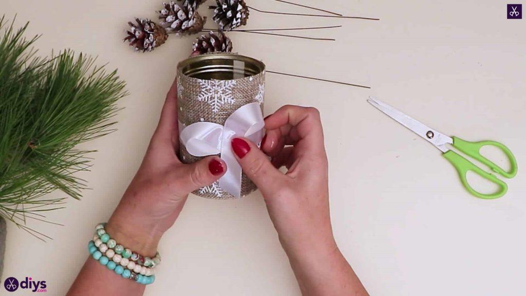 Décoration de table de sapin de Noël rustique