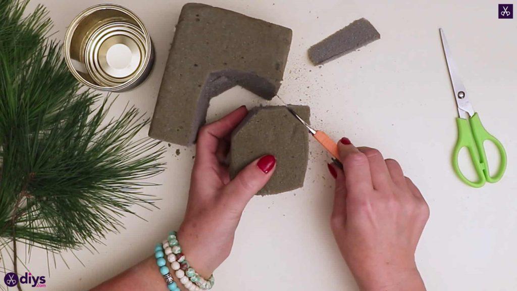 Décoration de table de sapin de Noël ronde