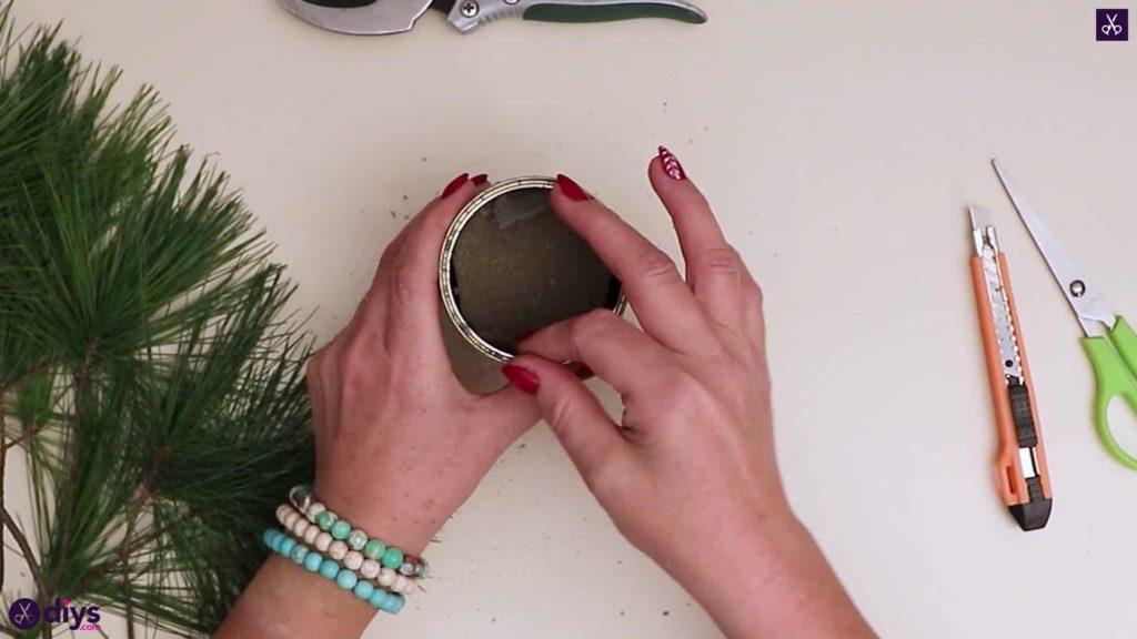 Décoration de table sapin de noel etape 3