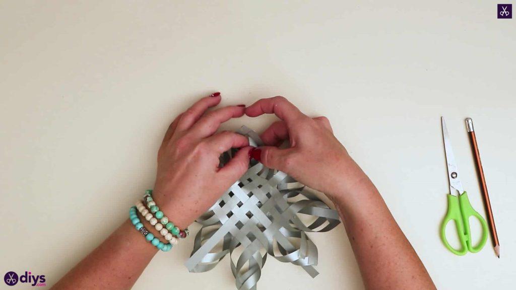 Ornement étoile en papier pour arbre