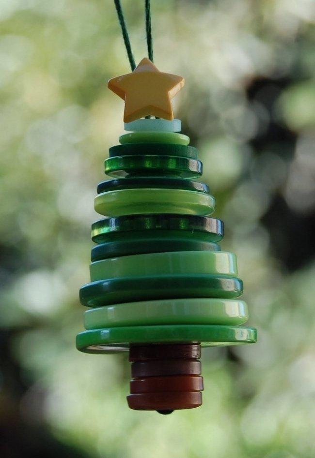 Artisanat de Noël avec des boutons