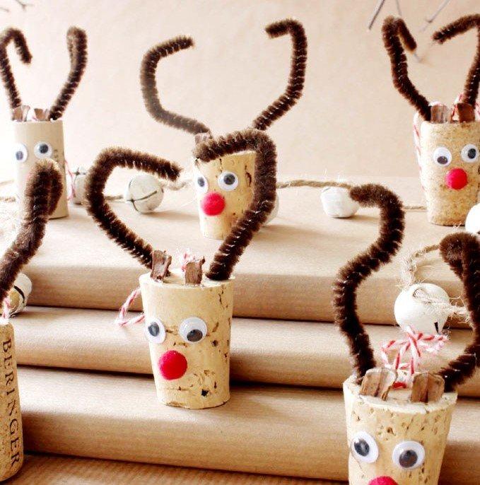 Artisanat de Noël avec des bouchons
