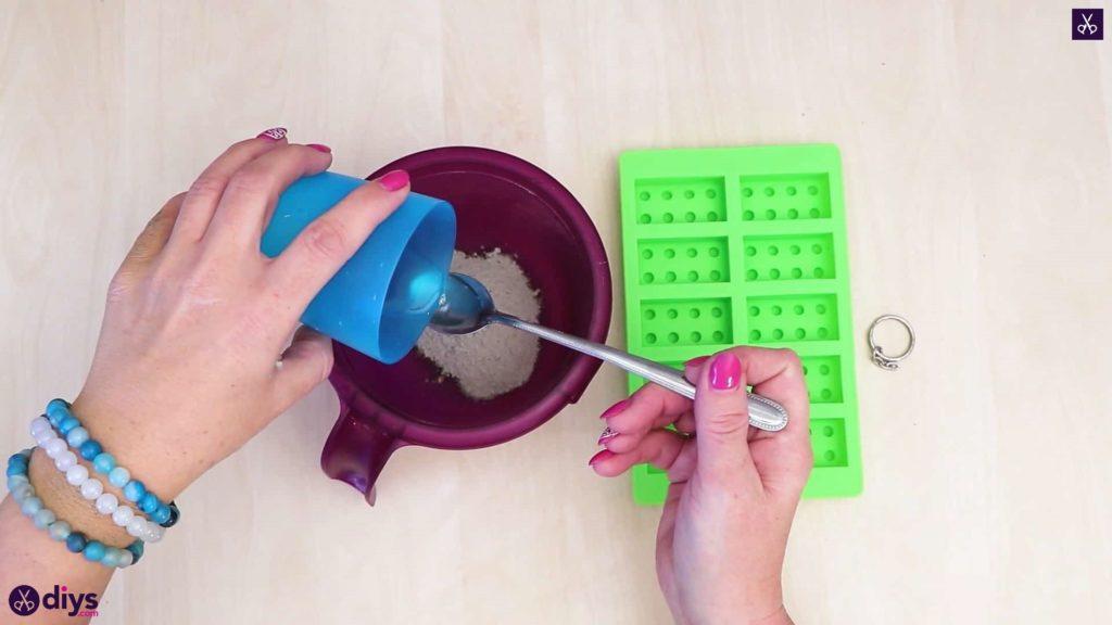 Porte-clés en béton lego block pour béton