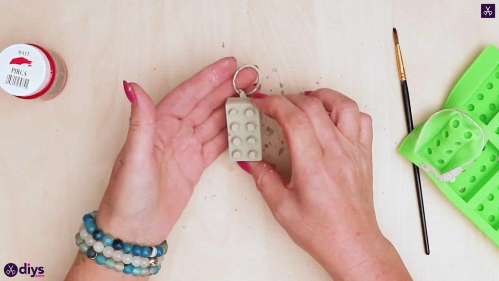 Porte-clés en béton lego block