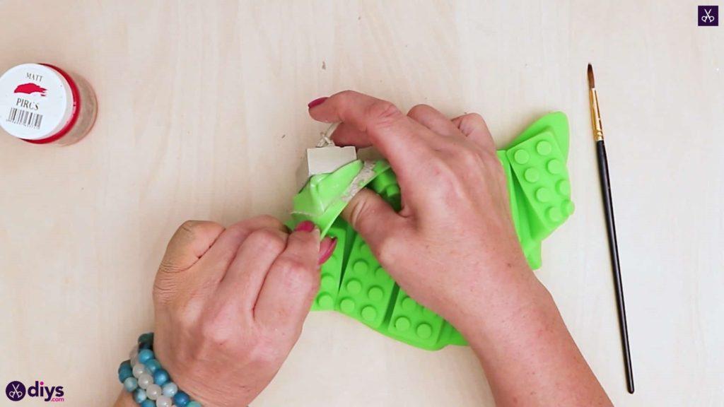 Moule porte-clés en béton lego block