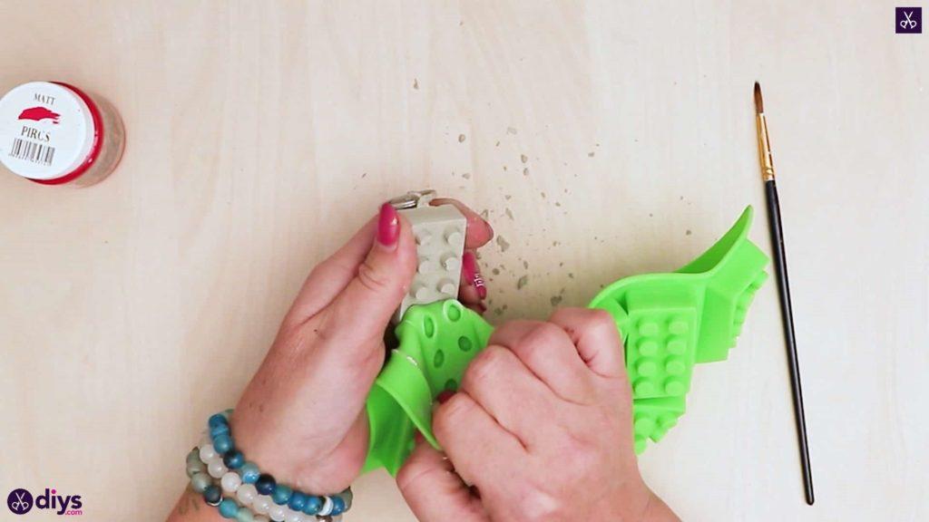 Moule simple porte-clés en béton lego block