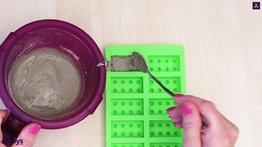 Porte-clés en béton lego block pour