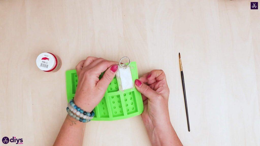 Porte-clés en béton lego block DIY