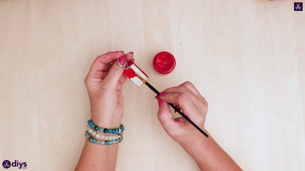 Porte-clés en béton lego block ajouter de la peinture