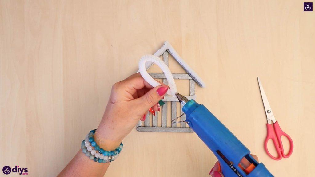 Bâton de popsicle ornement maison bricolage facile