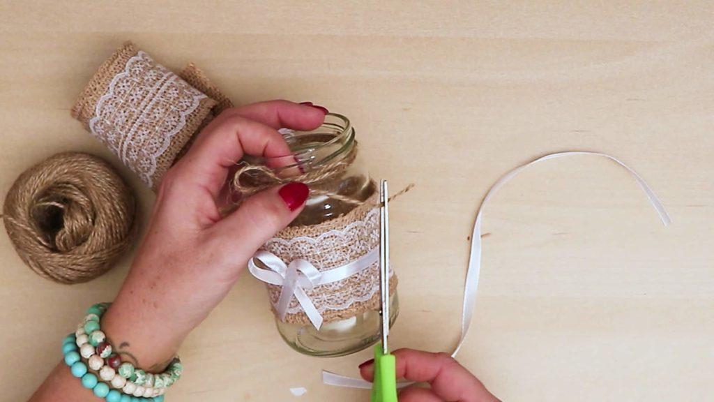 Bricolage Vintage Mason Jar Craft coupe chaîne