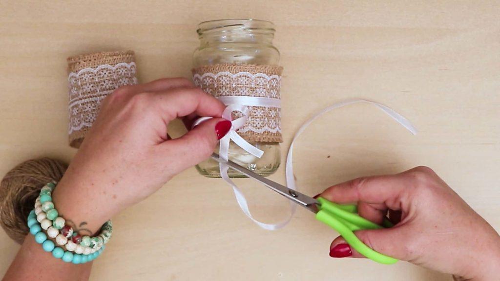 Bricolage Vintage Mason Jar Craft Cut Bow