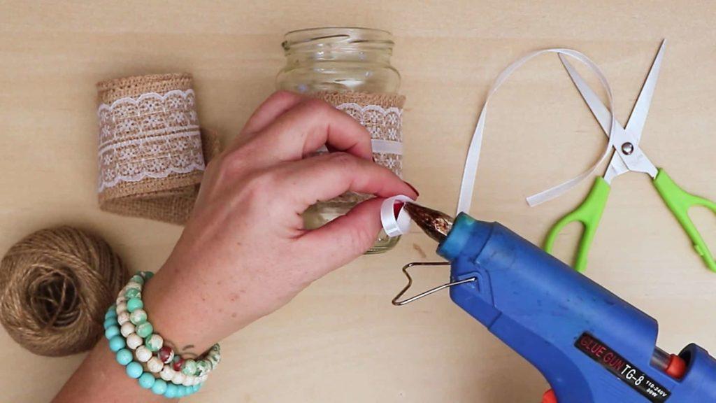 Noeud de bricolage vintage Mason Jar Craft