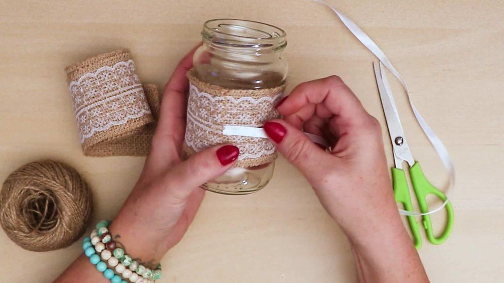Ruban de bricolage vintage Mason Jar Craft