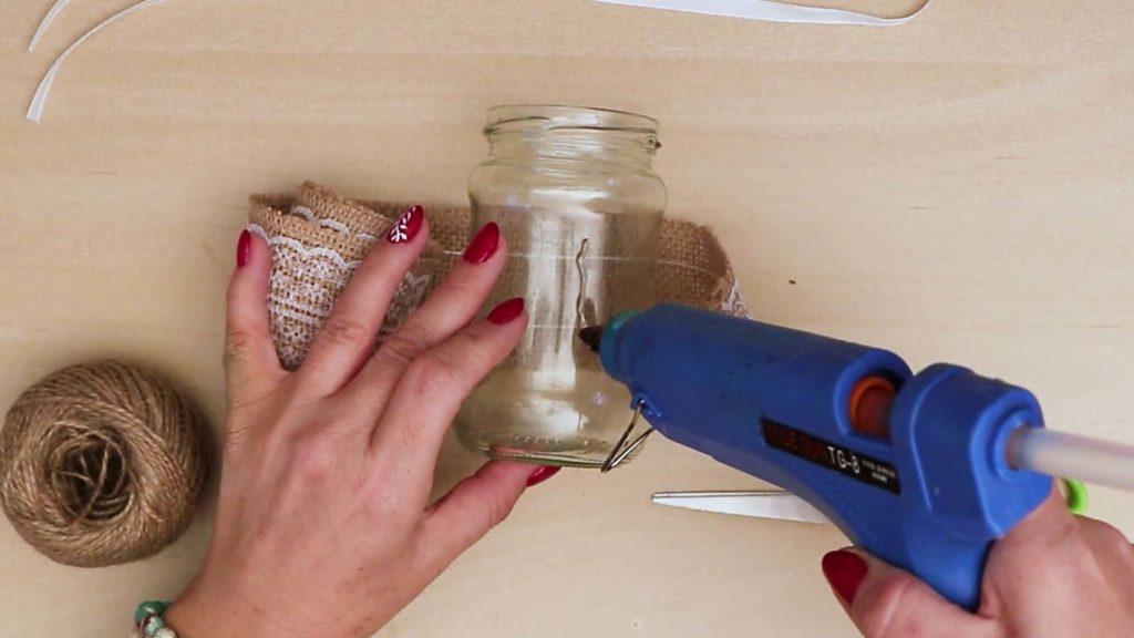 Colle de bricolage Vintage Mason Jar Craft