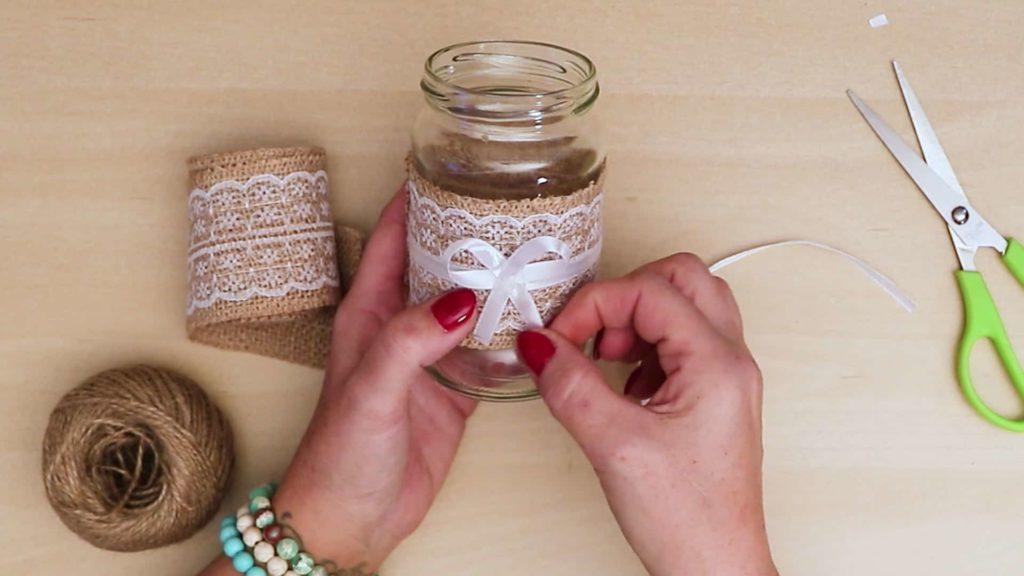 Bricolage vintage pot Mason Craft simple et mignon