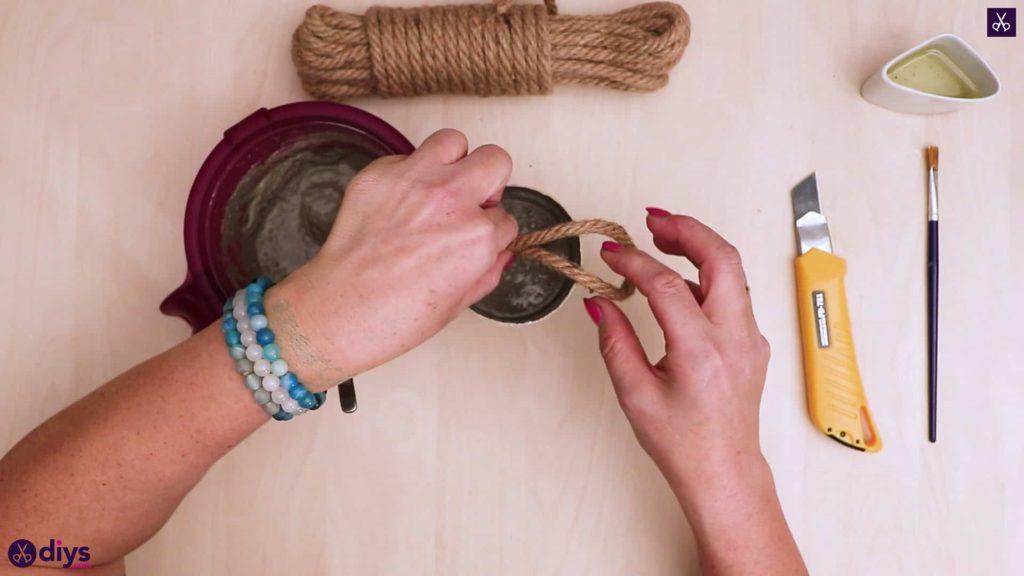 Bouchon de porte en béton bricolage pour