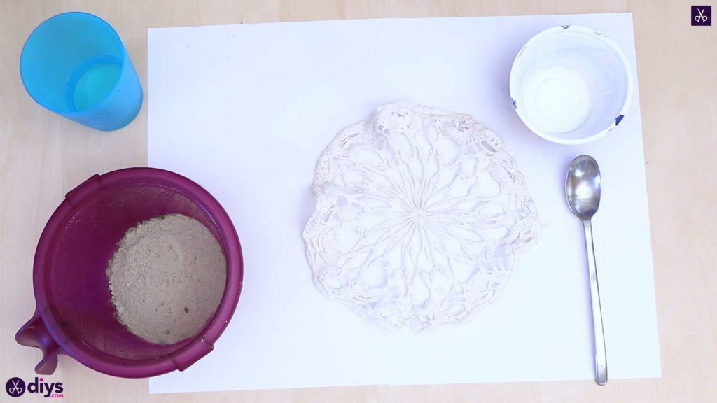Pot de napperon en béton simple bricolage