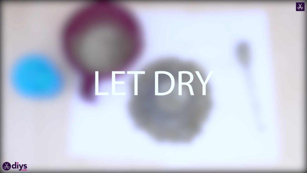 Pot de napperon en béton simple bricolage laisser sécher