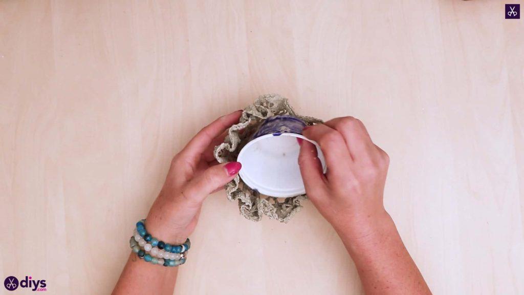 Pot de napperon en béton simple bricolage étape 4
