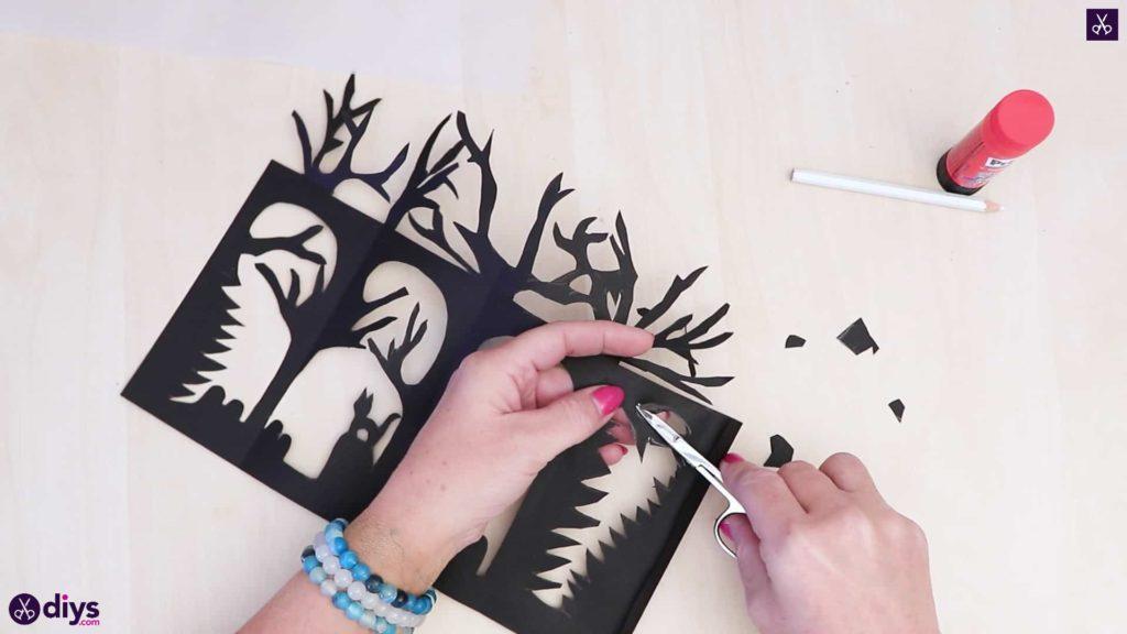 Art de lanterne en papier bricolage étape 4