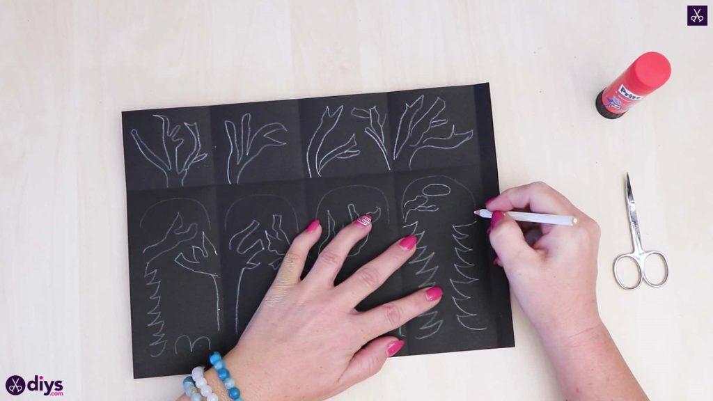 Pochoir art lanterne en papier bricolage