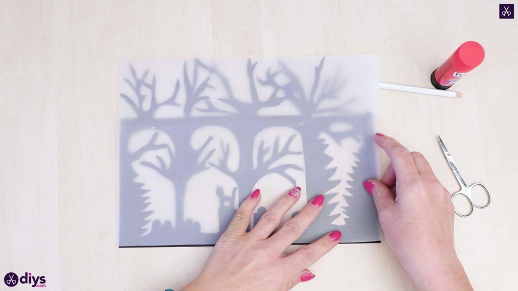 Art de lanterne en papier bricolage étape 5