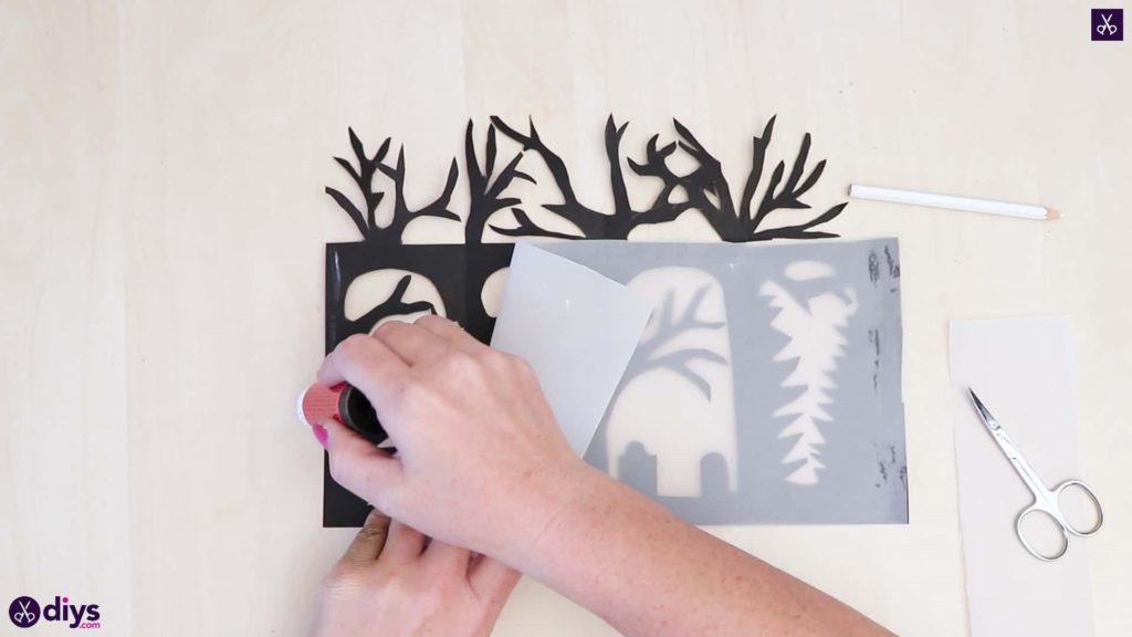 Colle d'art de lanterne de papier de bricolage