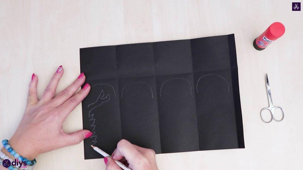 Lanterne en papier bricolage art étape 3a