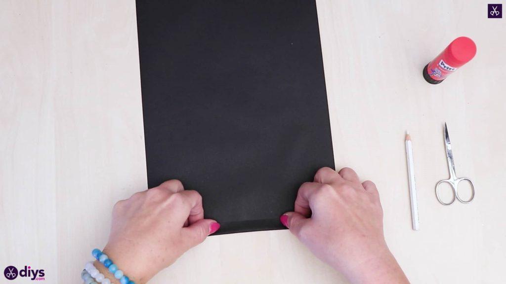 Bricolage papier lanterne art papier noir