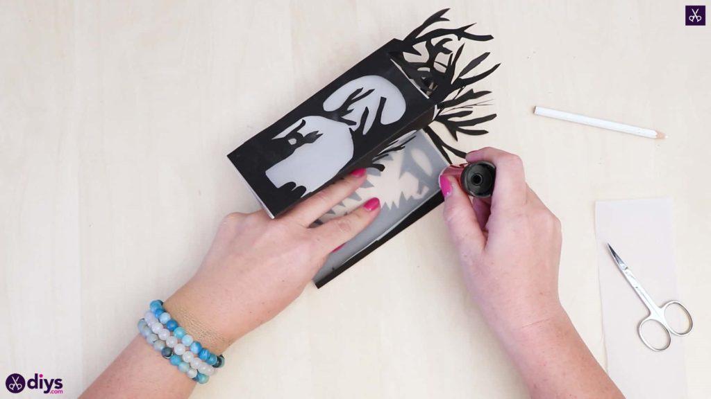 Lanterne en papier bricolage art étape 6a