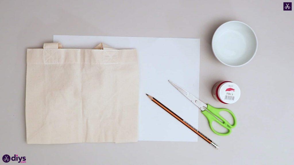 Matériaux de sac fourre-tout coeur bricolage