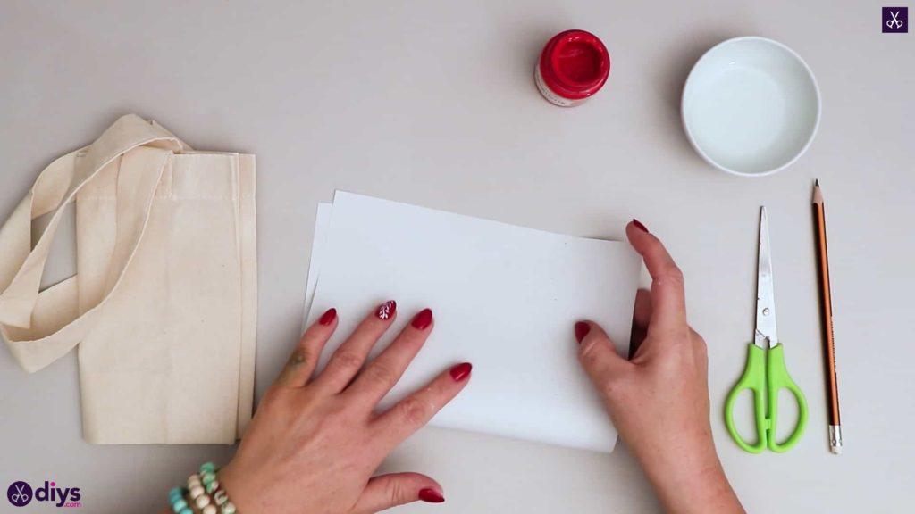Sac fourre-tout coeur bricolage papier plié