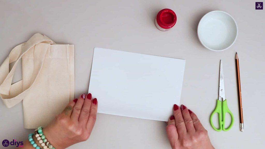 Sac cabas bricolage coeur papier blanc