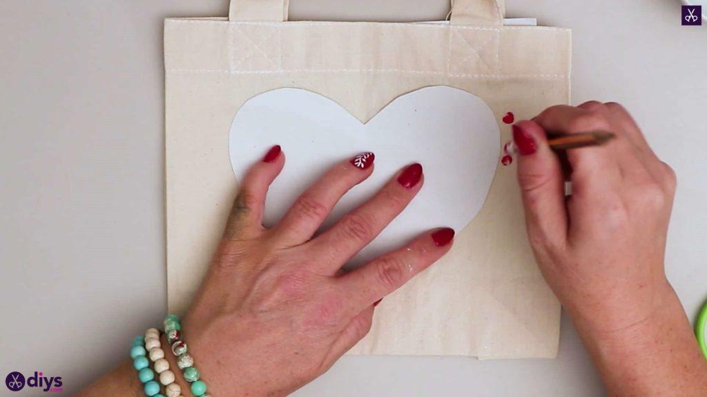 Pochoir de sac fourre-tout coeur bricolage
