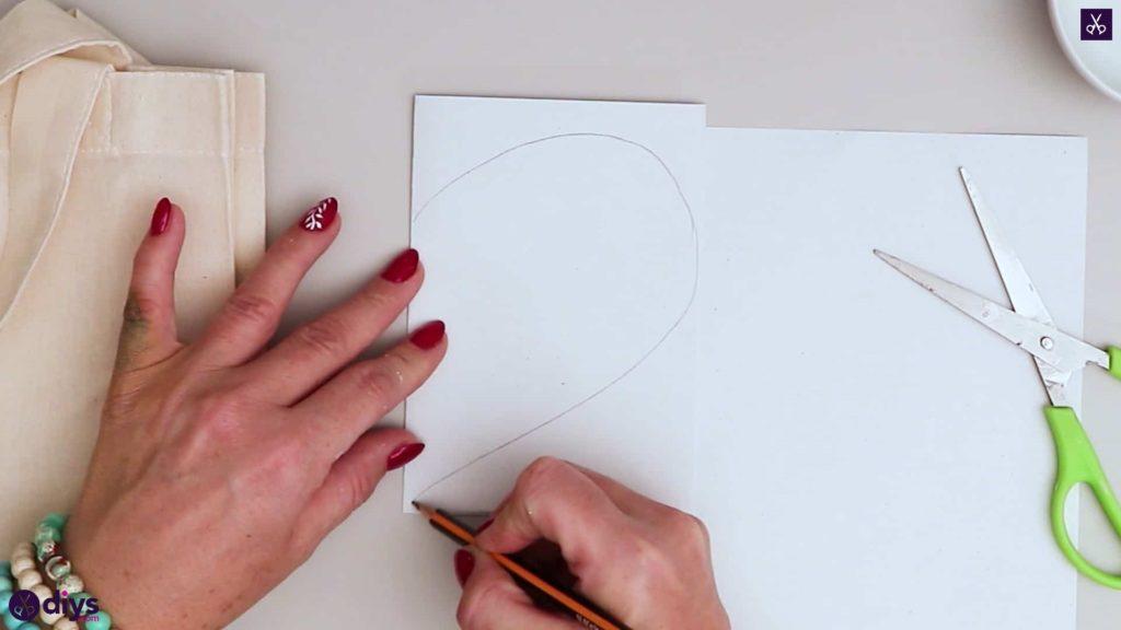 Sac fourre-tout coeur bricolage dessiner