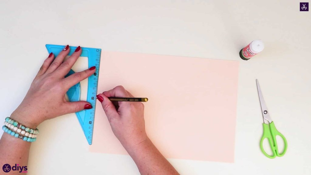 Angle de rose en papier réaliste bricolage