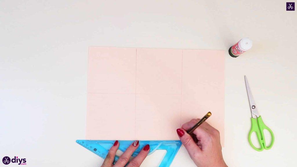 Papier réaliste bricolage rose géométrique
