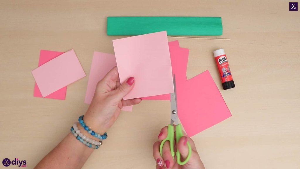 Bricolage papier 3d fleur papier artisanat
