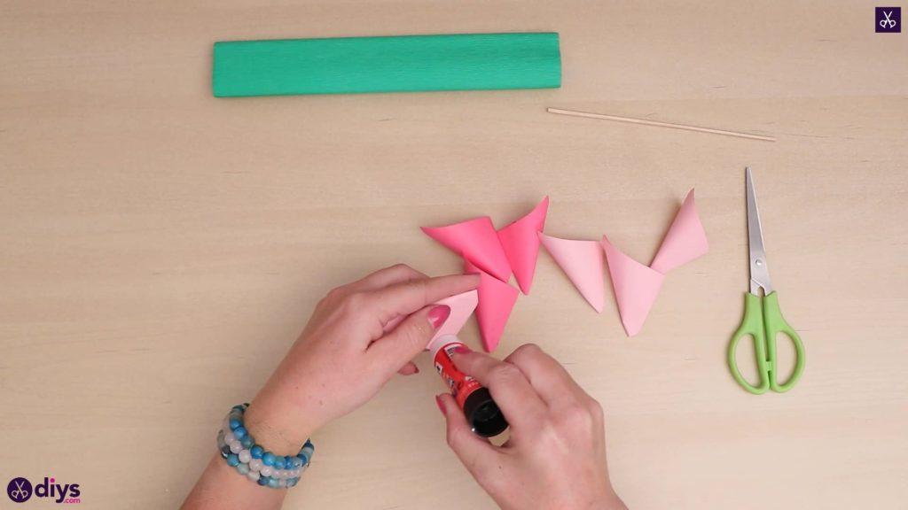 DIY 3d fleur de papier étape 4