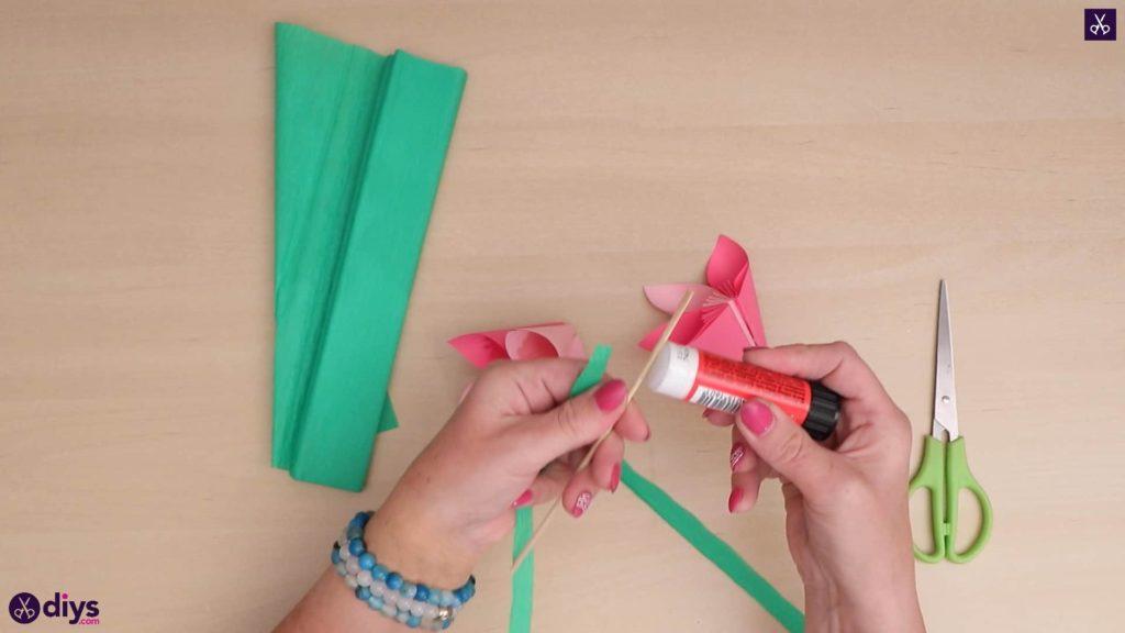 Bâton de colle de fleur en papier 3d bricolage