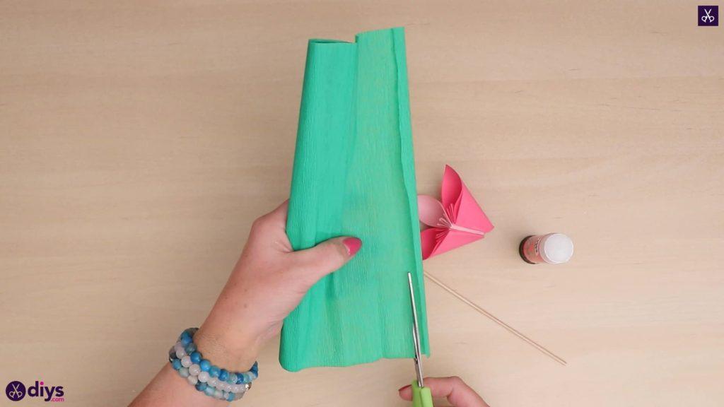 Papier de crêpe fleur en papier 3D bricolage