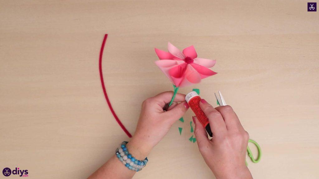 Attache de fleur en papier 3d bricolage