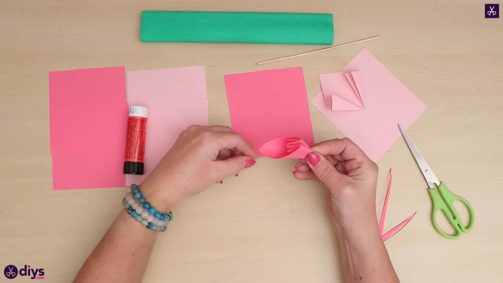 DIY 3d papier fleur simple pliage